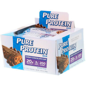Pure Protein, Chew Chocolate Chip Bar,1.76 oz(2 pack)