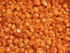 Orange garnet crystals Nigeria 15 carat lots smaller 3-7mm 10-20 pieces