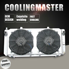 2 Row/Core Aluminum Radiator For Toyota MR2 L4 2.0L 91-95 MT With Fan Shroud