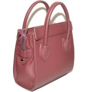 Pochette donna borsa piccola bordeaux con tracolla e chiusura a zip a bauletto m