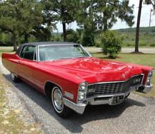 1967 Cadillac Coupe DeVille, Red, Refrigerator Magnet, 40 MIL THICK