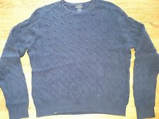 346 Brooks Brothers Sweater XL Youth Navy Mercerized Cotton Cable