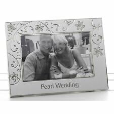 Wedding Anniversary Silver Photo Frame Ideal 30 th Pearl Anniversary Gift