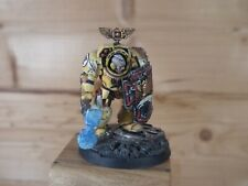 PLASTIC WARHAMMER SPACE MARINE IMPERIAL FISTS CAPTAIN TERMINATOR PAINTED 1044)