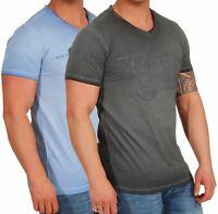 Timezone Herren T-Shirt Herrenshirt kurzarm V-Ausschnitt Basic Shirt 22-10083