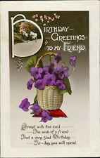 Vintage Greetings Postcards Lot  Posted Or Notes Verso  QS.267