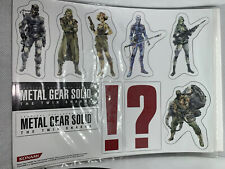 METAL GEAR SOLID THE TWIN SNAKE PRESS PACK MAGNET SHEET