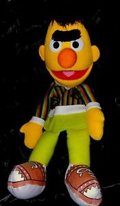 "Sesame Street Bert Puppet Plush Toy Soft Stuffed Doll 13"""