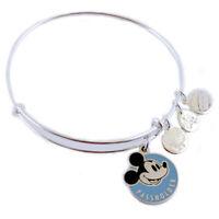Disney World Mickey Annual Passholder Alex & Ani Silver Charm Bracelet NEW