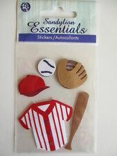 SANDYLION ESSENTIALS 3D STICKERS - BASEBALL ball bat glove