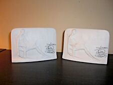 Lladro Porcelain Collectors Society Plaques/bookends pair of two.