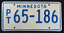 "MINNESOTA "" SEMI TRAILER TRUCK PT65-186 "" 70s MN Vintage Classic  License Plate"