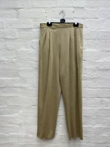 EB75 Vintage Gold Trousers Frank Usher Lurex Size 10
