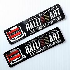 2PC. MITSUBISHI RALLI ART POWER EVOLUTION REFLECTIVE STICKER DIE-CUT FOIL EMBOSS