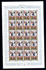 LIECHTENSTEIN - 1963 - Menestrelli - 3° serie - Minifogli di 20 - 25 (Rp)