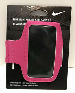Nike Lightweight Arm Band 2.0 Holder Case Hyper Pink Fits Most Phones -Brand New