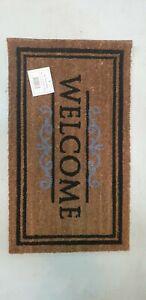 Natural Coir Welcome Floor Entrance Non Slip Door Mat Indoor Outdoor Doormat