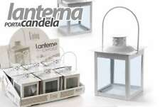 LANTERNA METALLO H14*1 PORTACANDELA BIANCA SEGNAPOSTO INTERNO ESTERNO ACA 732812