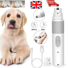 Pet Dog Cat Nail Grinder Paws Grooming Trimmer Clipper Electric Nail File UK