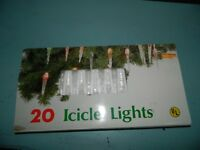 Vintage Christmas Lights 20 Icicle Lights
