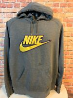 Vintage Nike Swoosh Spellout Embroidered Hoodie Hooded Sweatshirt Mens Size XL