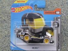 Hot Wheels 2018 #036/365 RIG HEAT truck black / silver Super Chromes
