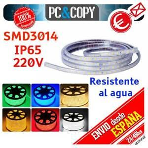 S1225 1M Tira de LED 220V IP65 Impermeable Luces Cinta Flexible SMD3014 SMD5050