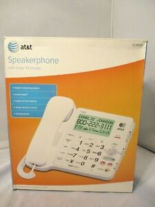 Large Tilt Screen AT&T CL4939 Corded Telephone Big Button Big Display