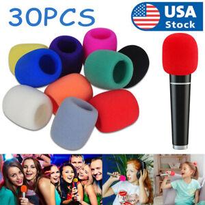 30Pcs Handheld Microphone Windshield Wind Shield Sponge Foam Cover Thicken
