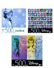 Lot of 3 NEW Disney Jigsaw Puzzles 500 Pieces by Cardinal - Disney Princesses