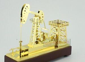 NEW Oil Well Pump Jack Gold Model Drillbit oilfield rig bit Oilfield Oil Well