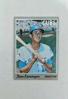 1970 Topps Don Kissinger #80 Baseball Card - Chicago Cubs