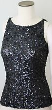 Young Couture by Barbara Schwarzer Tank Top Blouse Shirt XS/S Black with Sequin