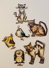 Rubber Stamp Tim Holz Crazy Birds Cats Cling Set