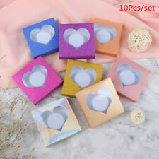 10set/lot Packing Box Eyelash Blank Package Box Multicolor Paper White Tray_BPOS