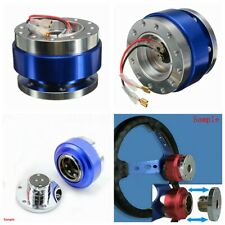 Universal Car Auto Steering Wheel Quick Release Hub Adapter Snap Off Boss Blue