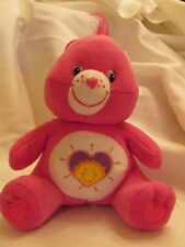"Nanco Care Bear 7"" Stuffed Plush Hot Pink Shine Bright"