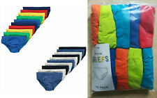 10 x Pairs GEORGE Young Boys Teenage Boys Pants Briefs Underpants UK Age 1 - 14