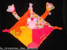 Doudou Hochet Grelot Grenouille Lomolos parme mauve rose orange jaune Babysun