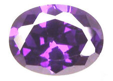 6x4 mm 0.9 cts Oval Vibrant Purple CZ, Grade AAAAA