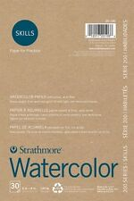 """Strathmore 200 Series Skills Watercolor Paper Pad Recycled  6"""" x 9""""  30 Sheets"""