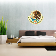 Mexico Coat Of Arms Flag Wall Decal Large Vinyl Sticker 24