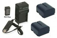 TWO 2 BN-V408U-H Batteries + Charger for JVC GR-D94U GR-D200U GR-D201 GR-D201U