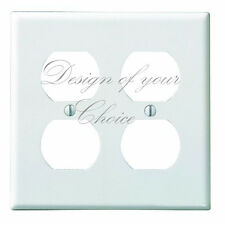CUSTOM CHOOSE YOUR OWN DESIGN DOUBLE OUTLET LIGH SWITCH PLATE COVER