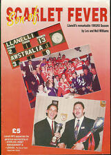 LLANELLI RUGBY BOOKLET - Son of Scarlet Fever by Les & Neil Williams 1992 - 1993