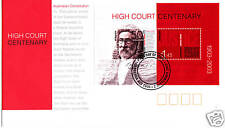 2003 High Court Centenary FDC with Mini Sheet