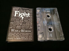 FIGHT WAR OF WORDS USA CASSETTE TAPE JUDAS PRIEST