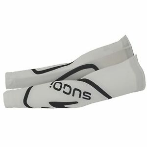 SUGOI 99920U.221 MEN'S ICON CYCLING BIKE ARM WARMER LARGE, WHITE, MADE IN CANADA