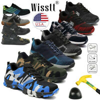 Men's Indestructible Extra Wide Work Shoes Steel Toe Boots Safety Sport Sneakers
