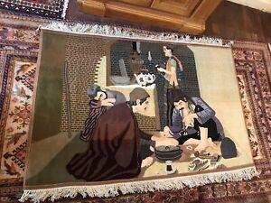 Handmade PersianTabriz Pictorial Rug 147x100cm